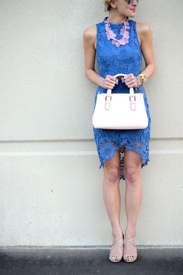 periwinkle lace dress