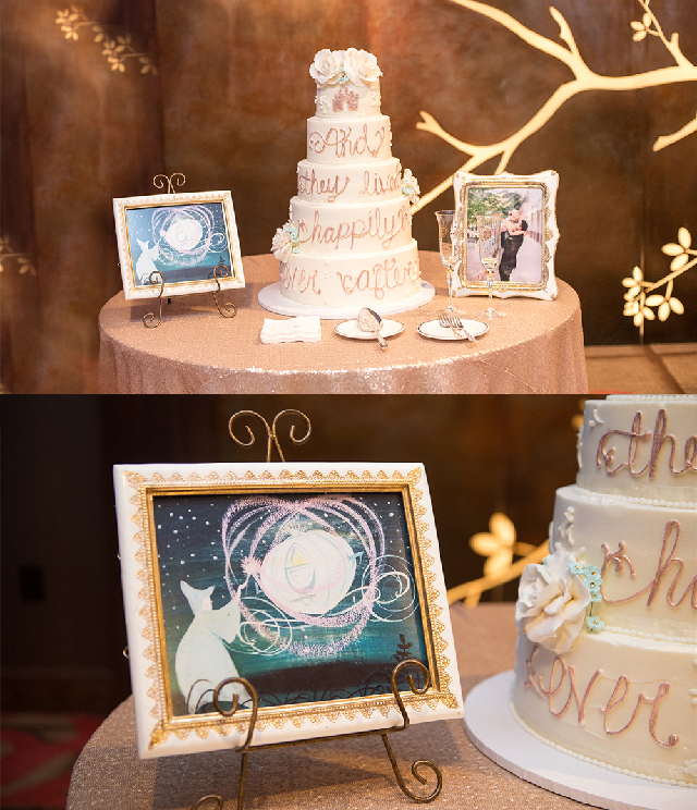 cinderella inspired wedding cake