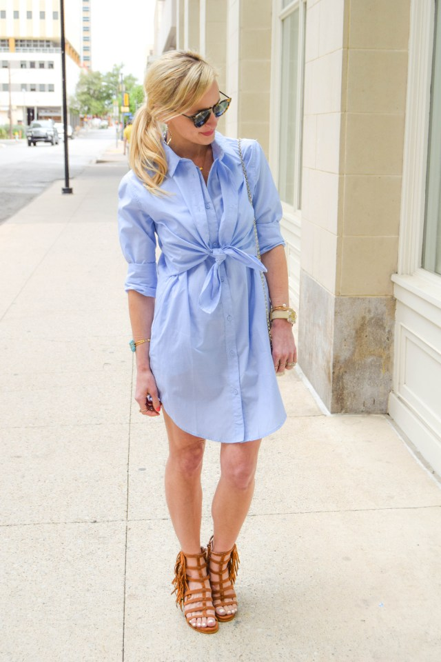 button up collared dress