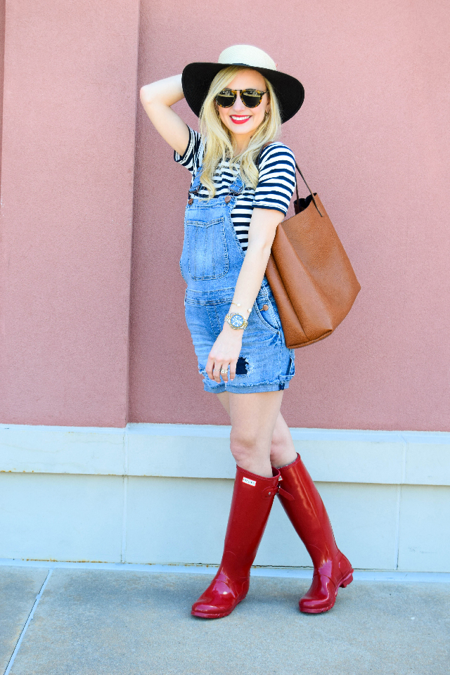 spring overalls outfit