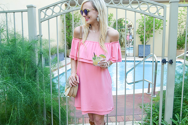 tiered off shoulder ruffle dress