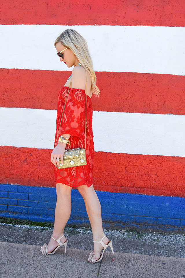 vandi-fair-blog-lauren-vandiver-dallas-texas-southern-fashion-blogger-red-lace-off-the-shoulder-dress-storee-baublebar-pharaoh-turquoise-bib-necklace-prada-retro-cat-eye-sunglasses-nude-fringe-sandals-5