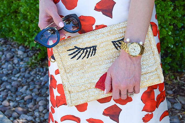 vandi-fair-blog-lauren-vandiver-dallas-texas-southern-fashion-blogger-renamed-red-petals-off-shoulder-dress-sale-shopbop-straw-clutch-nude-fringe-sandals-prada-retro-sunglasses-7