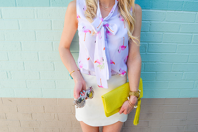 vandi-fair-lauren-vandiver-dallas-texas-southern-fashion-lifestyle-blogger-2-year-blogiversary-24-things-about-me-goodnight-macaron-pink-flamingo-shirt-topshop-white-scallop-mini-skirt-6