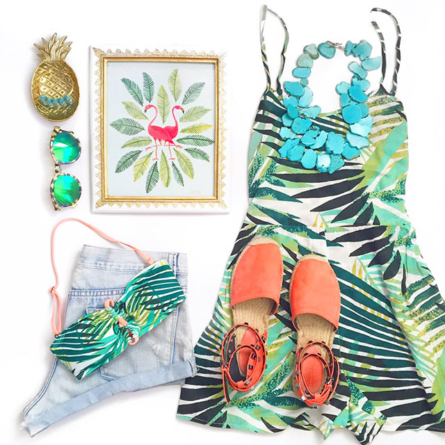 vandi-fair-blog-lauren-vandiver-dallas-texas-fashion-blogger-costa-rica-instagram-ig-round-up-billabong-tropical-leaf-print-slippery-slopes-print-romper-jungle-bandeau-bikini-top