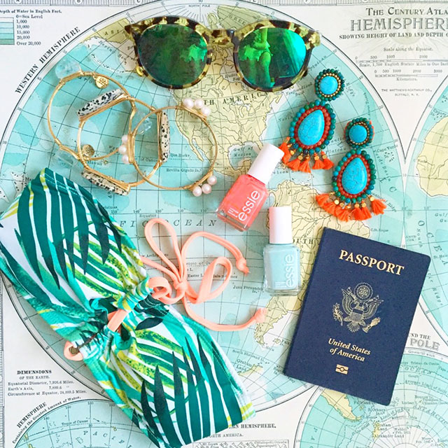 vandi-fair-blog-lauren-vandiver-dallas-texas-fashion-blogger-costa-rica-instagram-ig-round-up-panacea-turquoise-tassel-earrings-billabong-jungle-bandeau-bikini-top