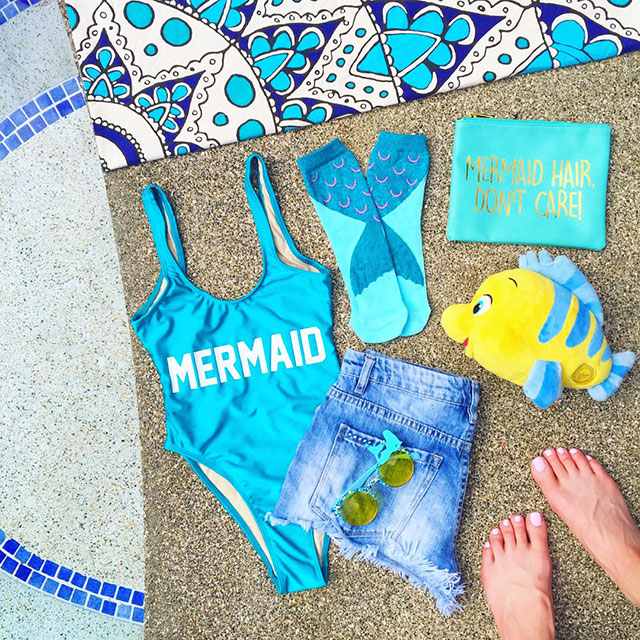 vandi-fair-blog-lauren-vandiver-dallas-texas-fashion-blogger-costa-rica-instagram-ig-round-up-private-party-mermaid-one-piece-swimsuit-disney-flounder-accessories
