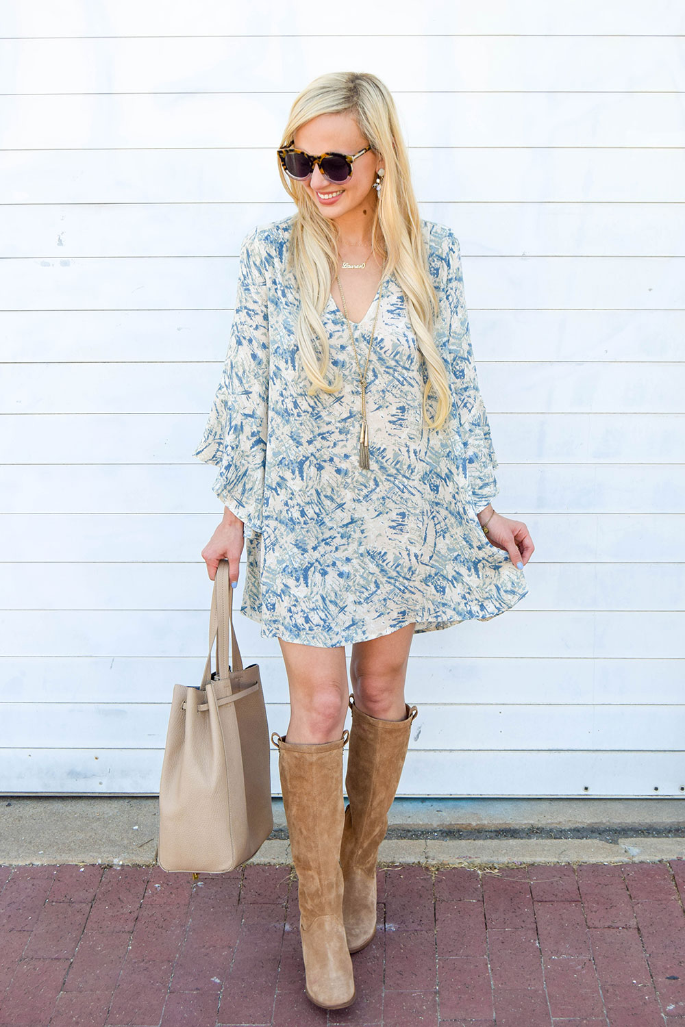 vandi-fair-dallas-fashion-blog-lauren-vandiver-southern-blogger-lush-whitney-bell-sleeve-woven-shift-dress-open-back-ugg-ava-tall-water-resistant-suede-boot-chestnut-14