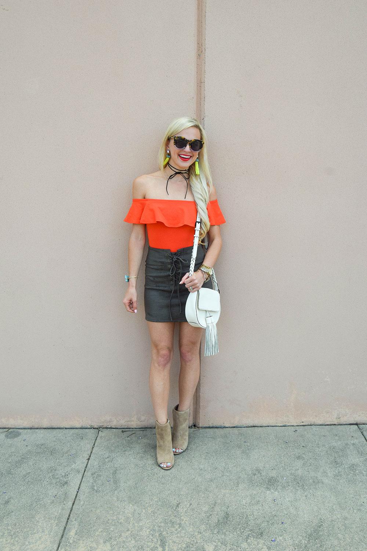 vandi-fair-blog-lauren-vandiver-dallas-texas-southern-fashion-blogger-nordstrom-leith-faux-suede-lace-up-miniskirt-skirt-topshp-ruffle-off-the-shoulder-bodysuit