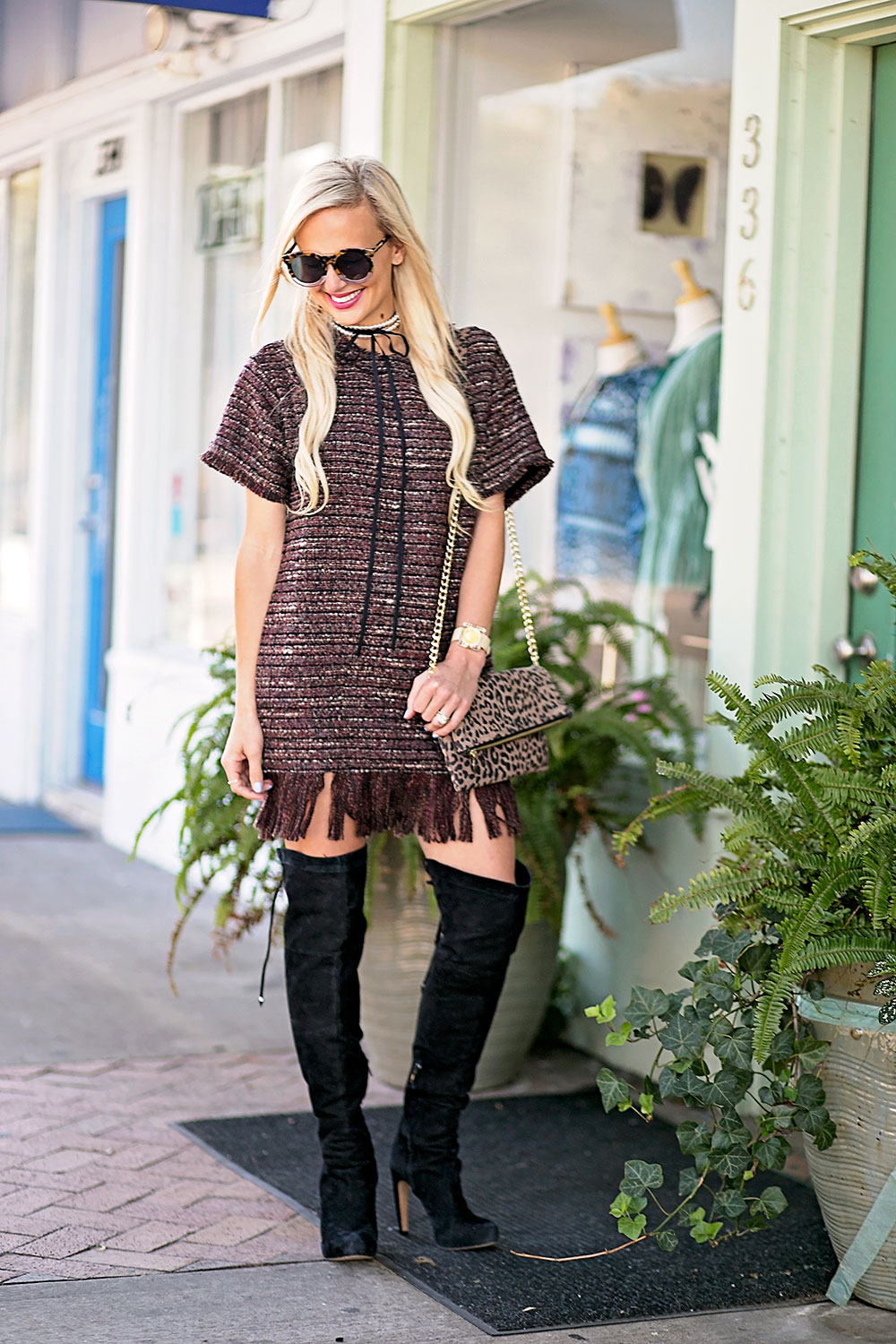 vandi-fair-blog-lauren-vandiver-dallas-texas-southern-fashion-blogger-astr-margo-fringe-shift-hem-dress-wine-over-the-knee-black-boots-4