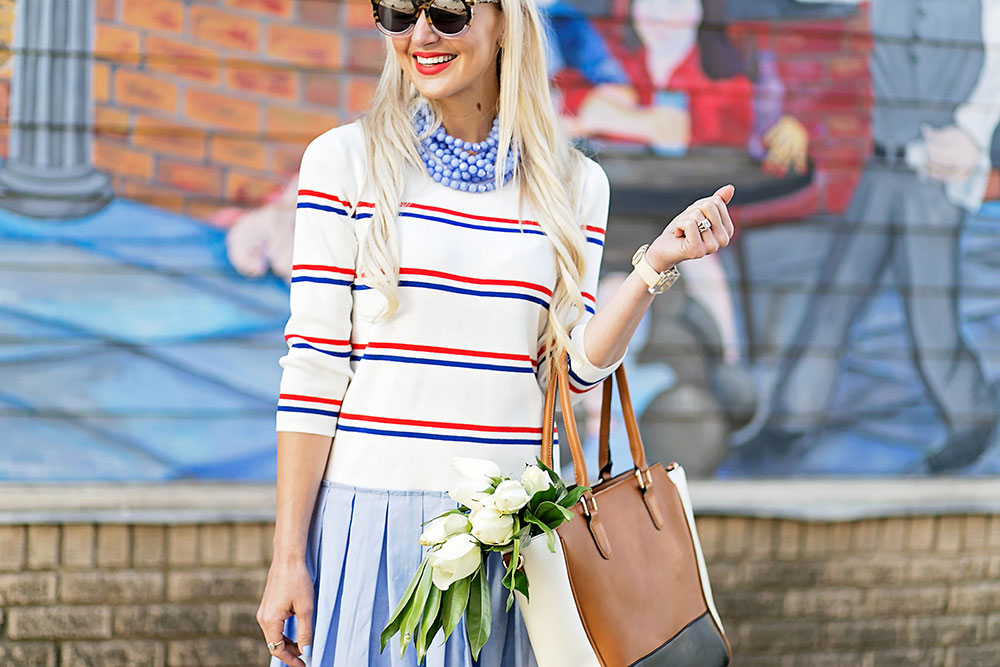 vandi-fair-blog-lauren-vandiver-dallas-texas-southern-fashion-blogger-modcloth-striped-pleated-sweater-dress-in-the-face-of-ad-varsity