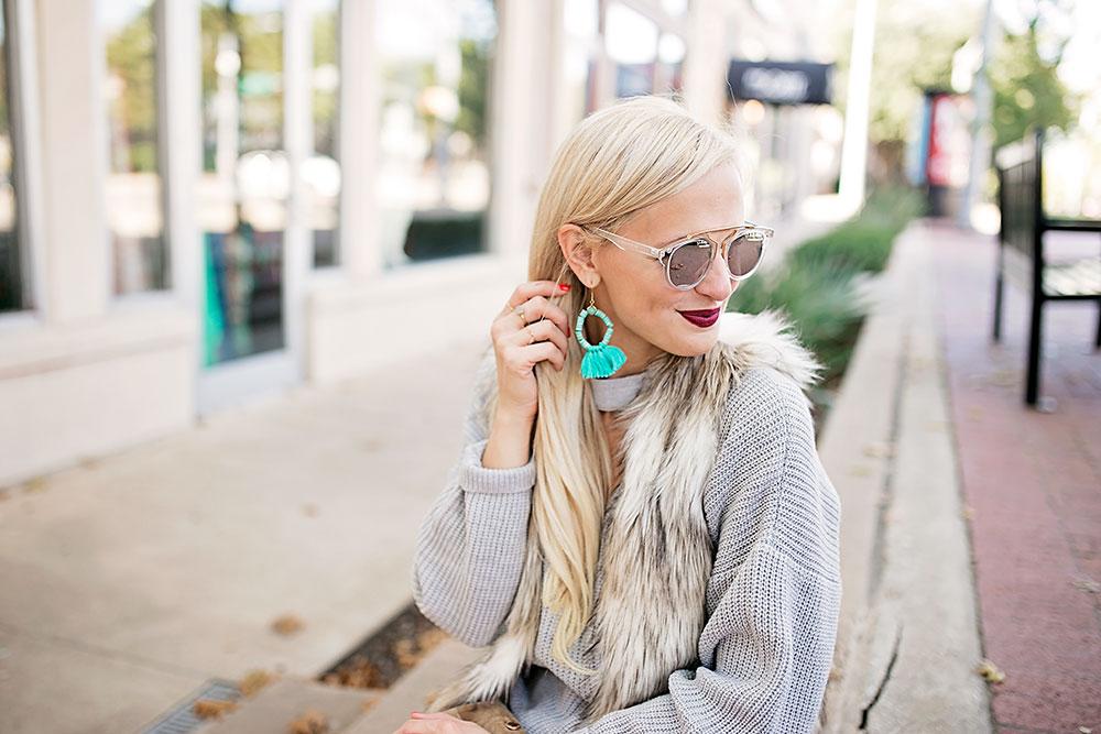 turquoise-beaded-tassel-earring