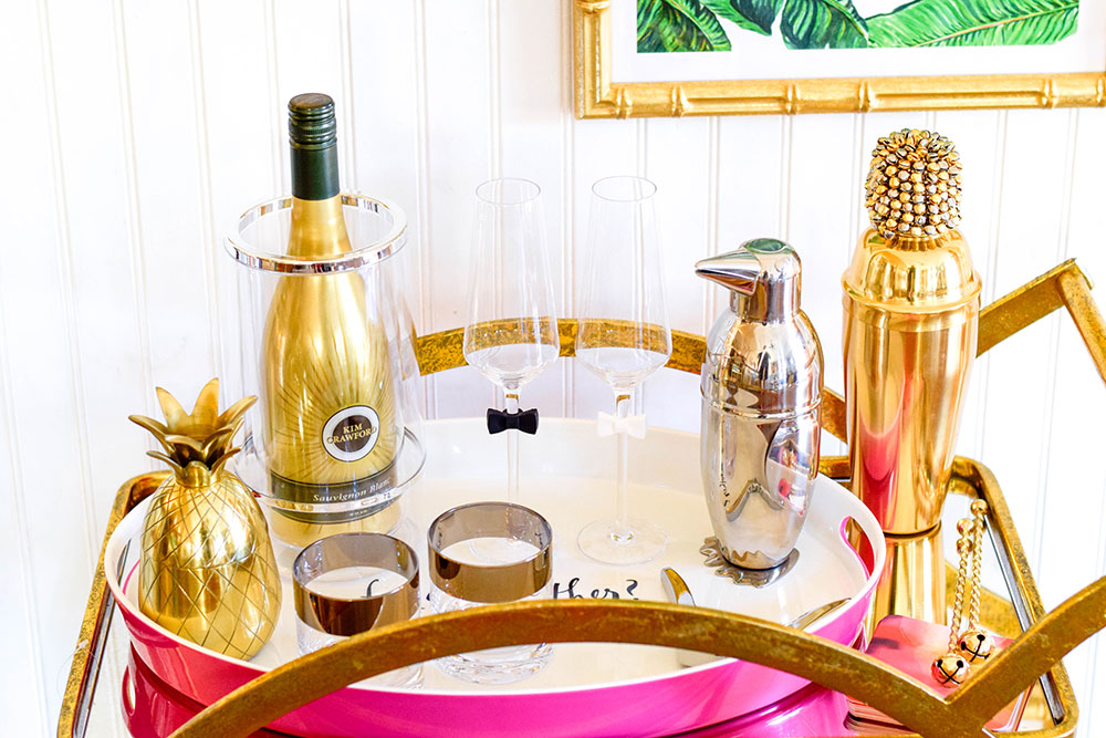 chic-gold-bar-cart-accessories