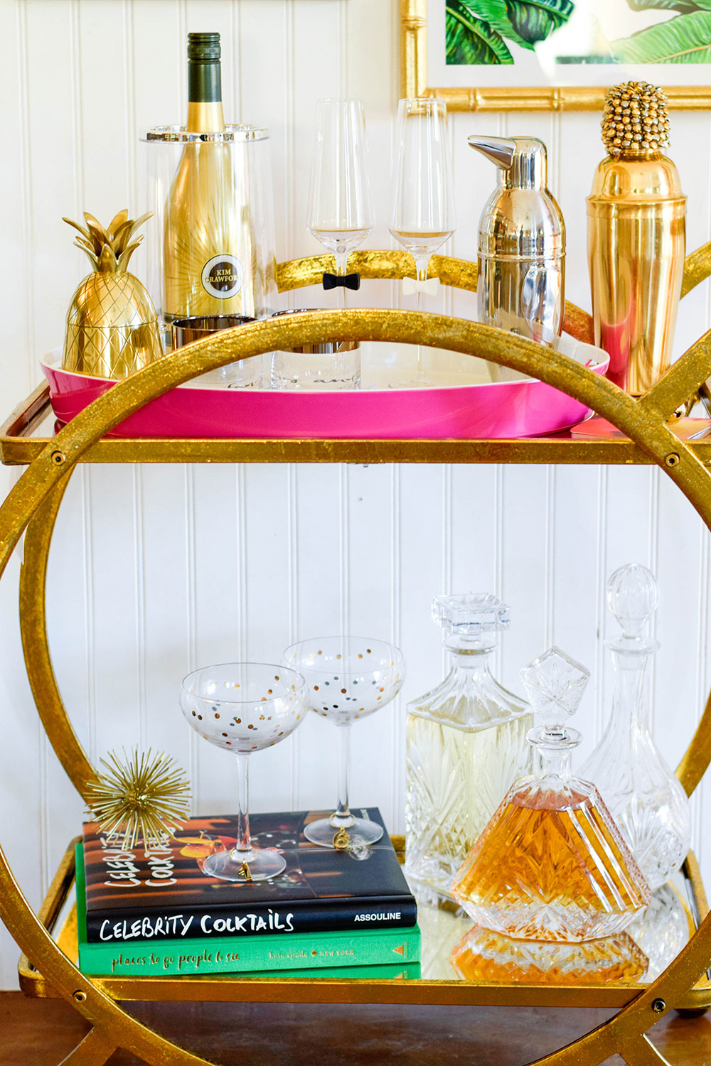 circular-gold-bar-cart
