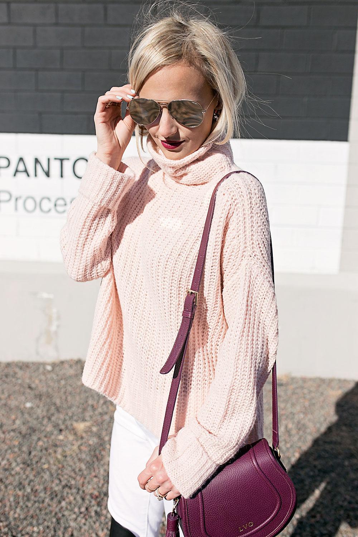 cozy-light-pink-knit-turtleneck-sweater
