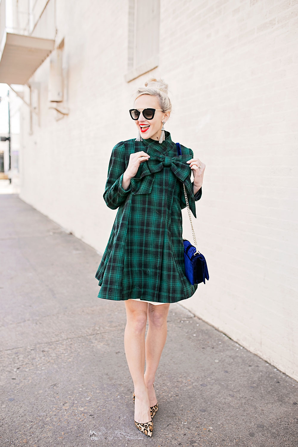 green-plaid-dress-coat-big-bow