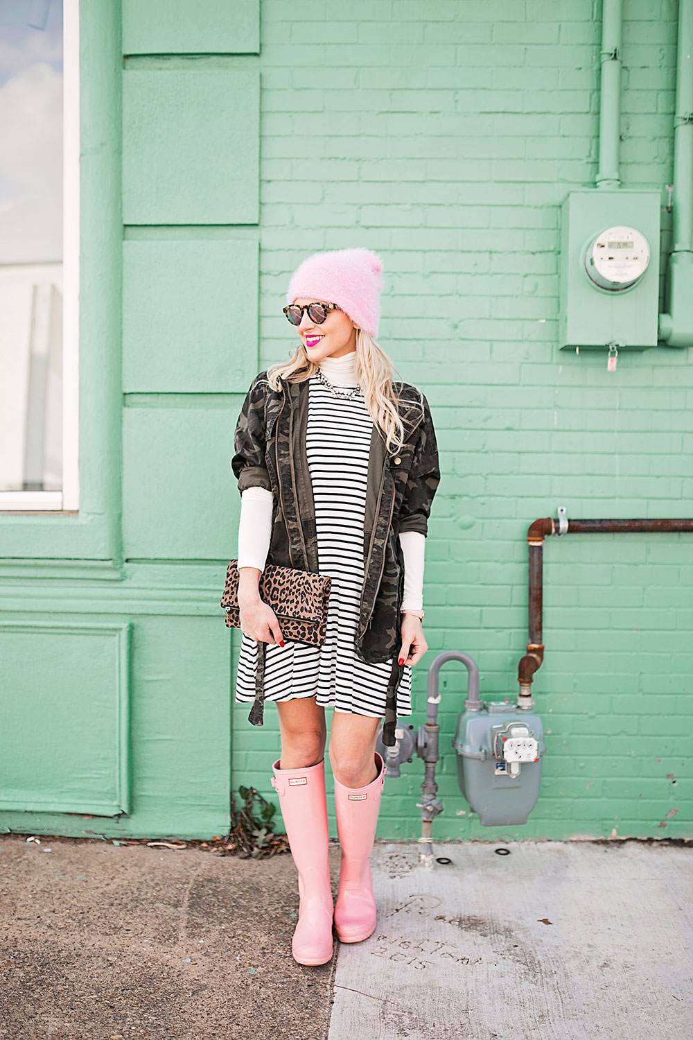 Camouflage and Stripes Outfit