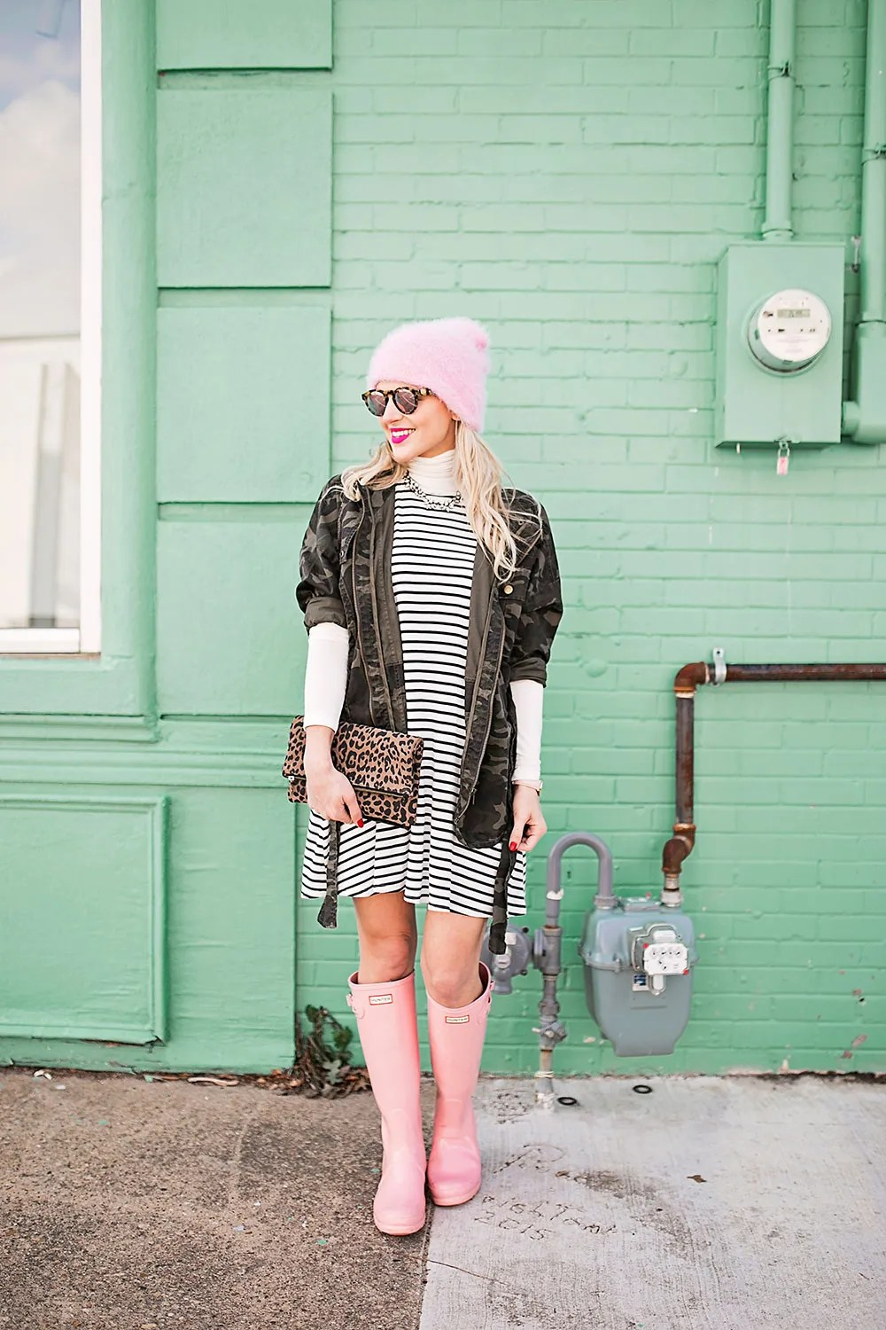 pink-hunter-boots-outfit