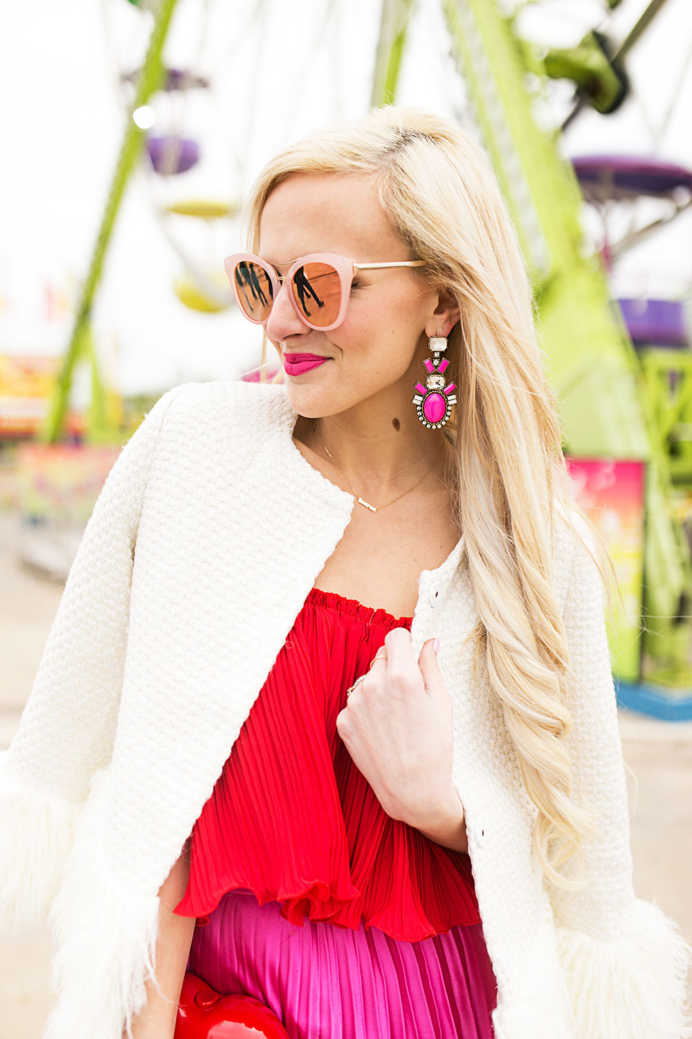 happiness-boutique-hot-pink-statement-earrings