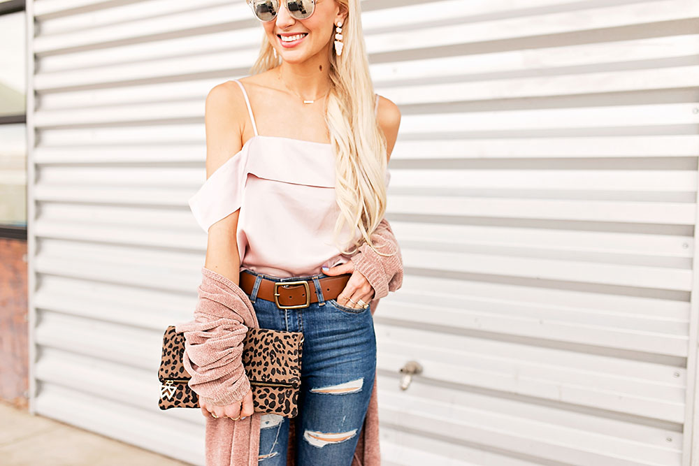 high-waist-jeans-blush-silk-top