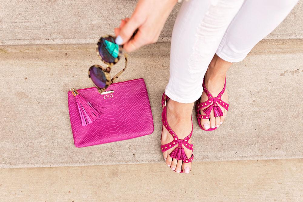 aerosoles-fuchsia-gladiator-tassel-embellished-sandals