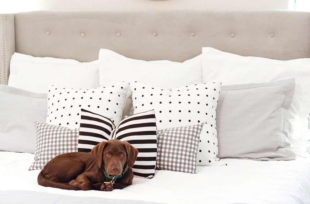 gingham-and-striped-throw-pillows
