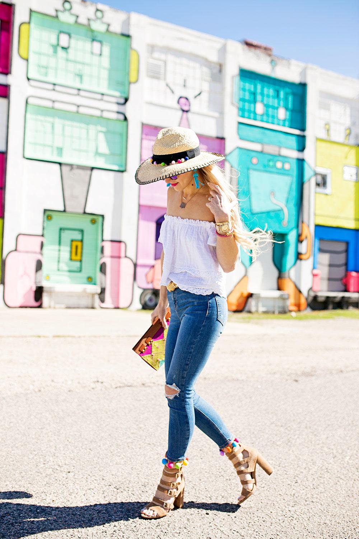 pom-embellished-skinny-jeans