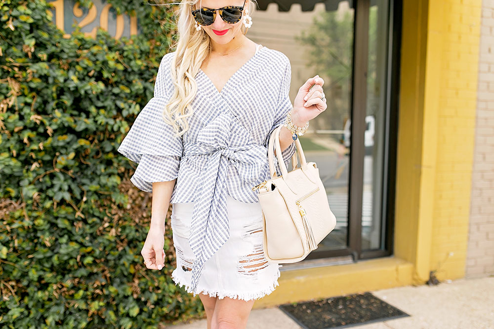 tiered-ruffle-sleeve-bow-top