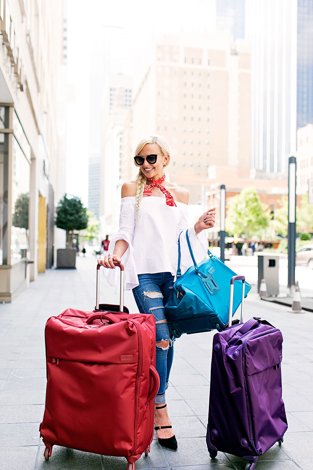 1e27aa614 lipault-spinner-luggage-suitcases-colorful. SHOP THE LOOK