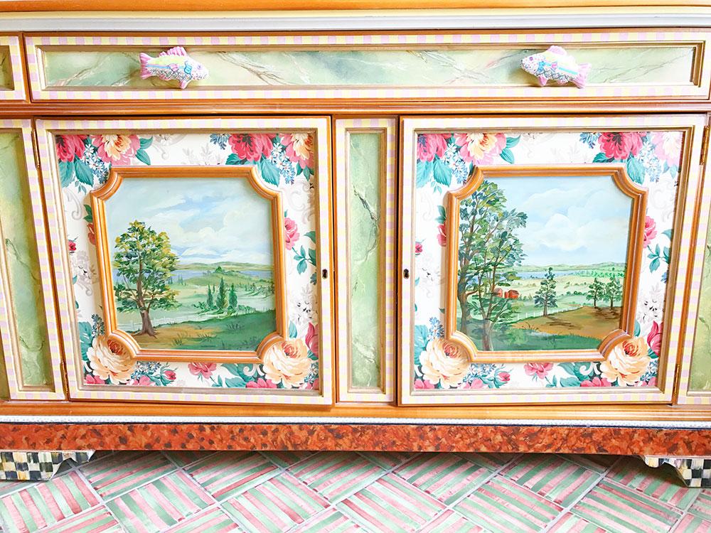 ... Mackenzie Childs Farmhouse Hand Painted Bathroom Sink