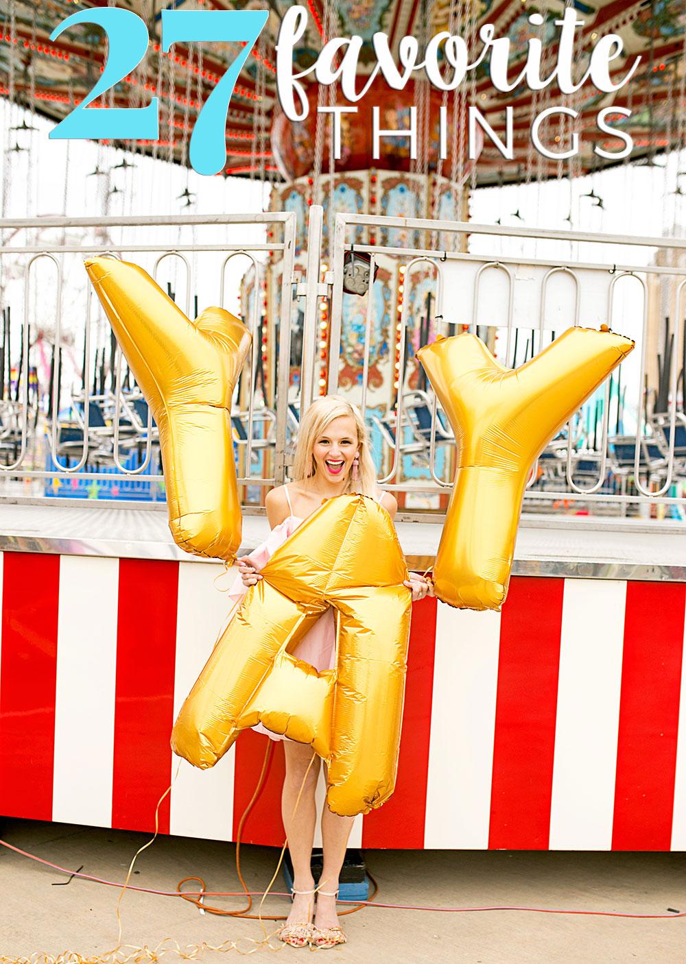 letter balloons gold