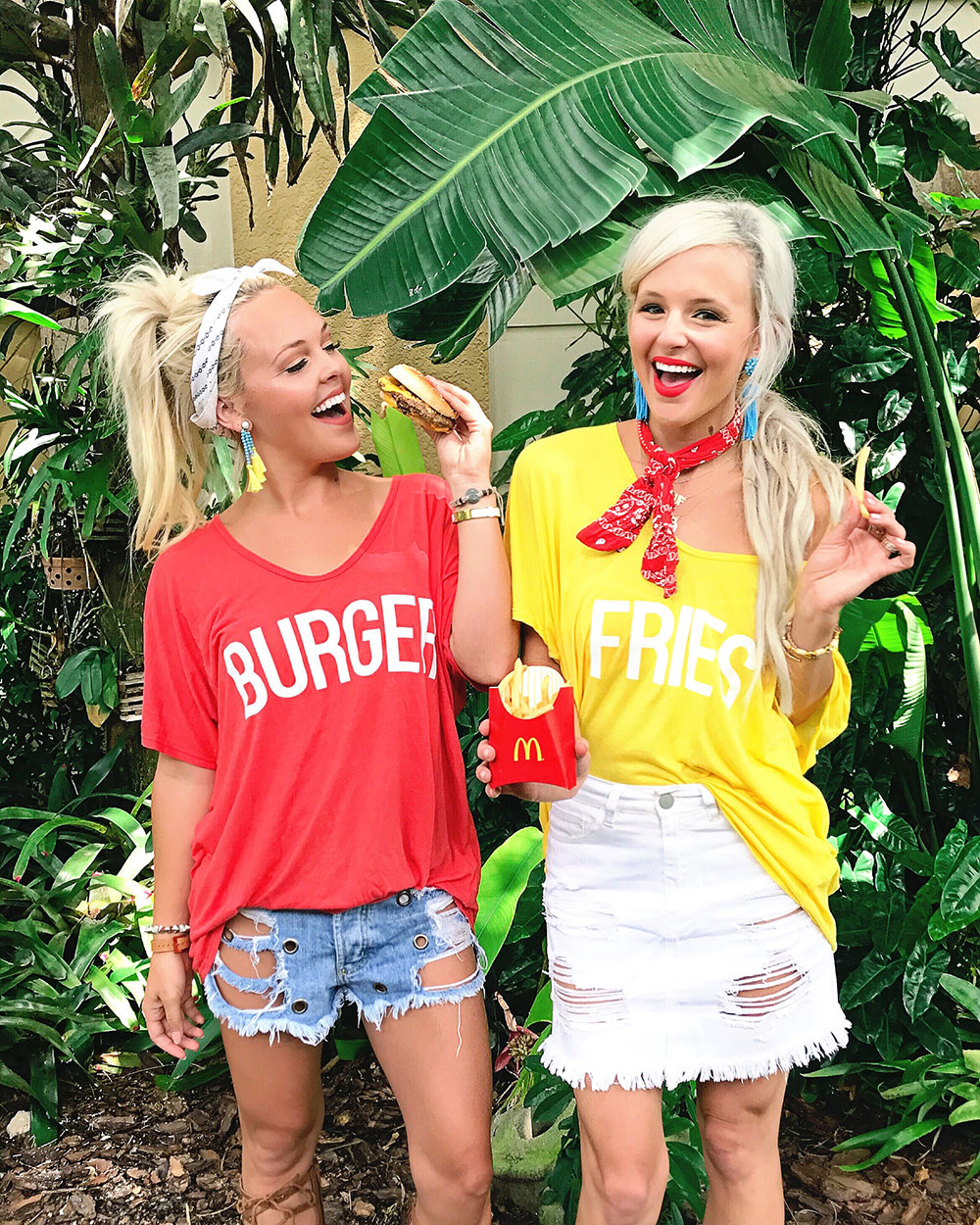 show me your mumu burger fries tees