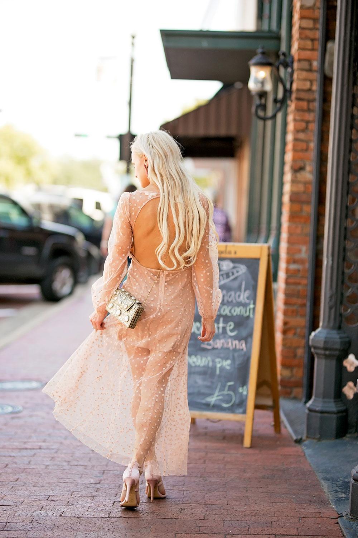 open back long sleeve maxi dress