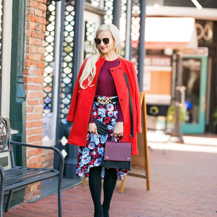 skirt and sweater outfit