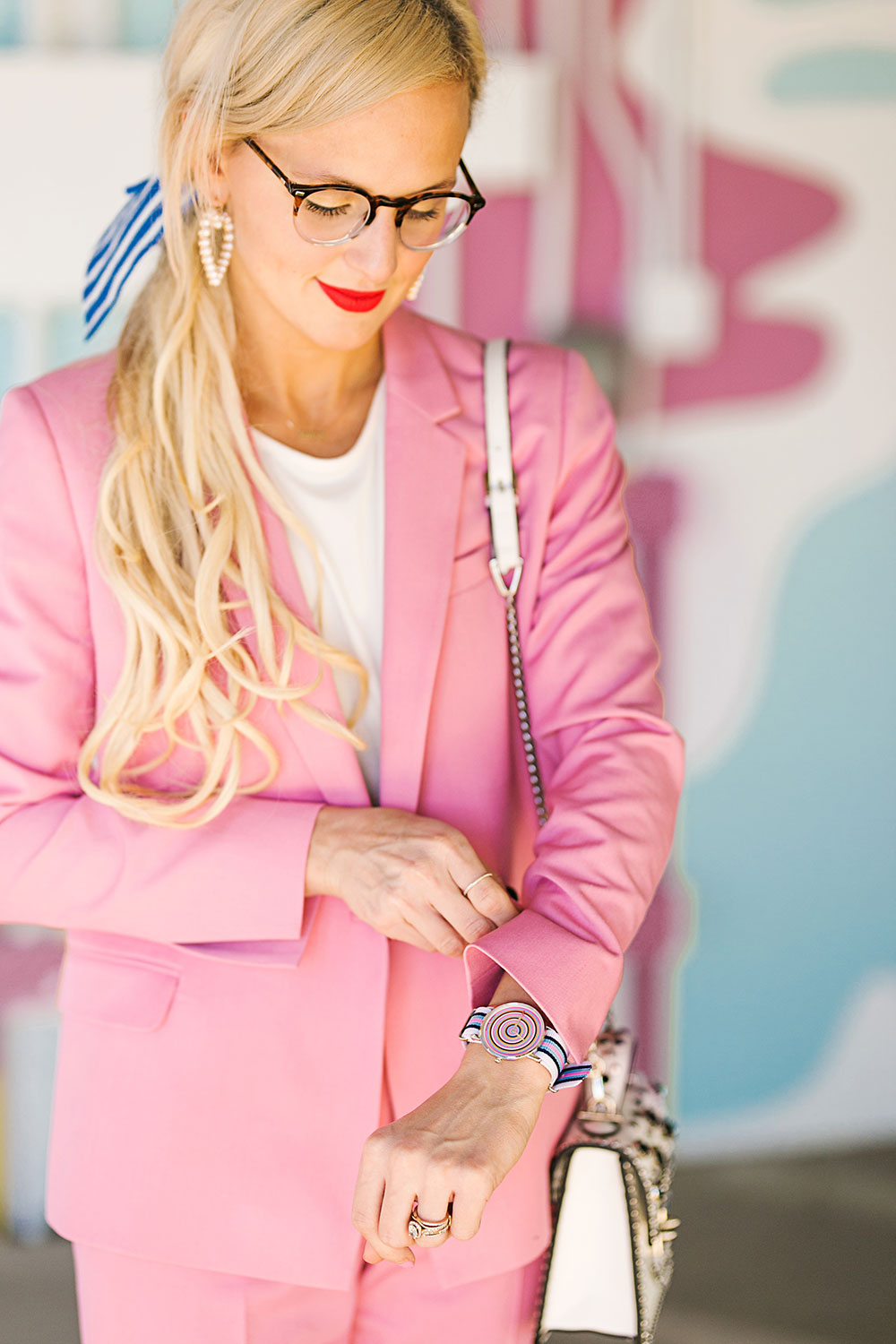 womens pink suit