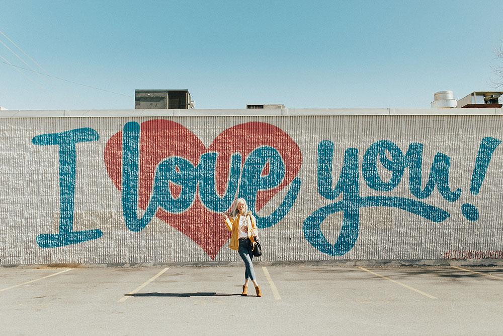 dallas i love you wall mural