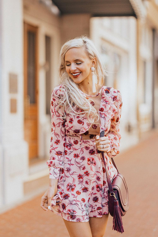 long sleeve floral dress