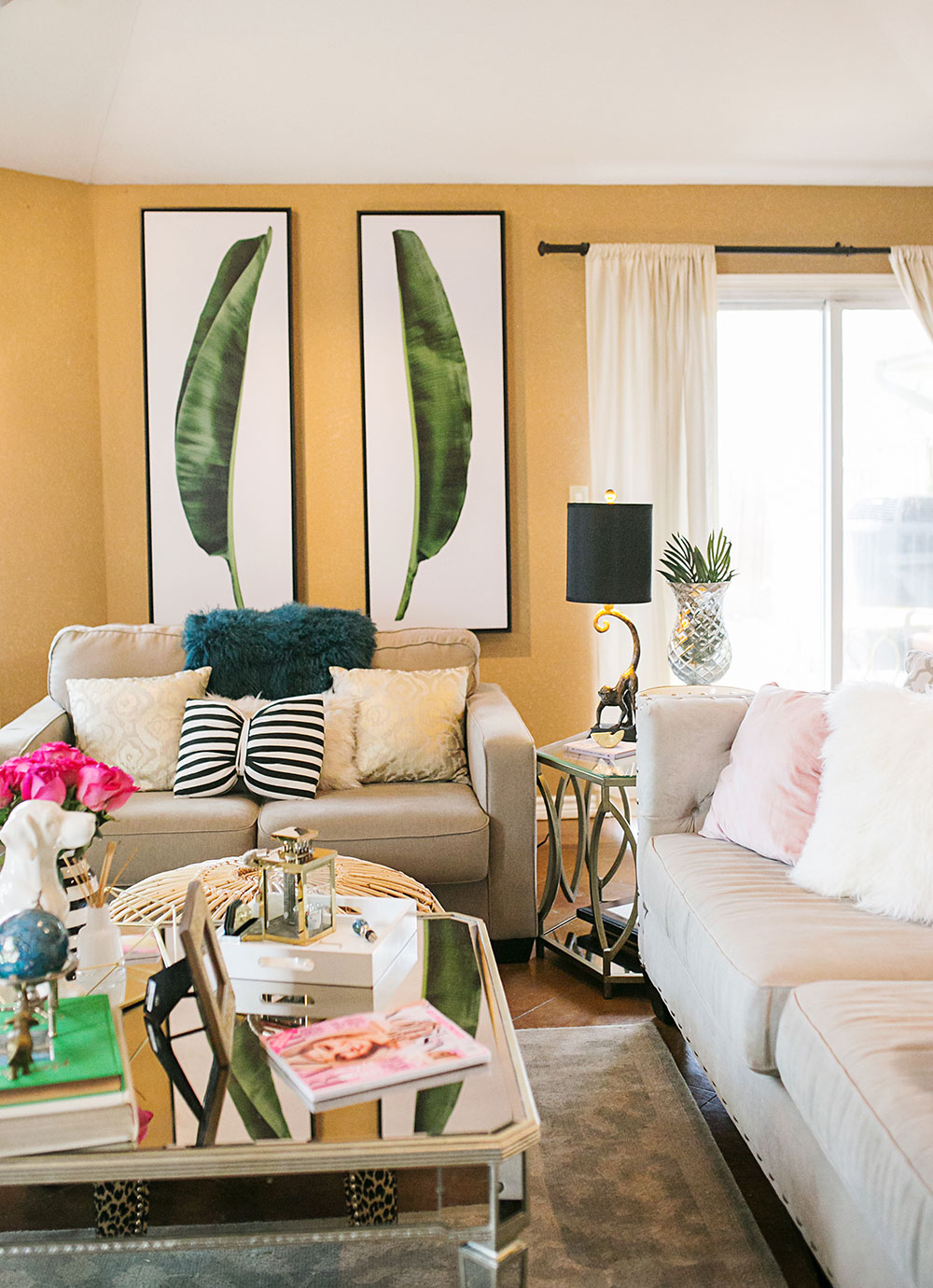 Our Tropical Chic Living Room Makeover   Vandi Fair