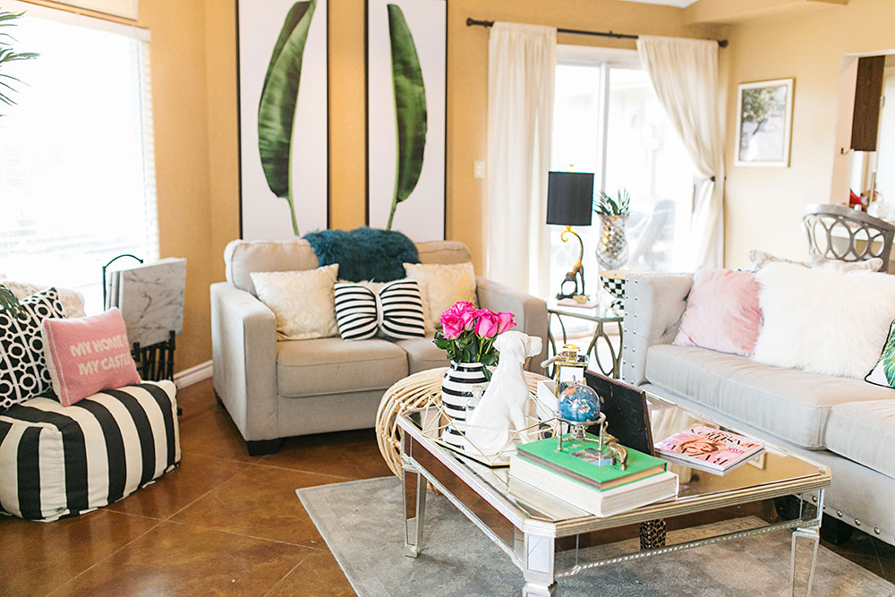 Our Tropical Chic Living Room Makeover | Vandi Fair
