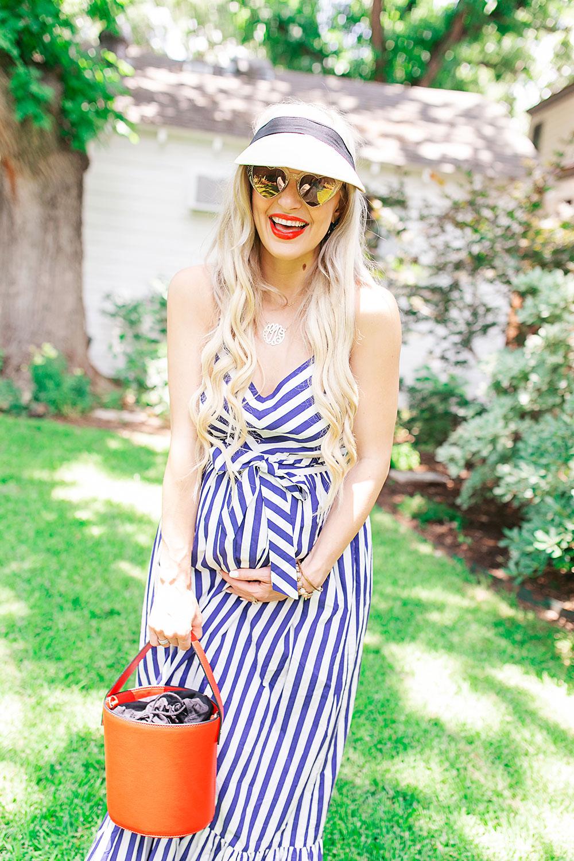 012aa837d671 Stripe Right in This Gorgeous Maxi Dress | Vandi Fair