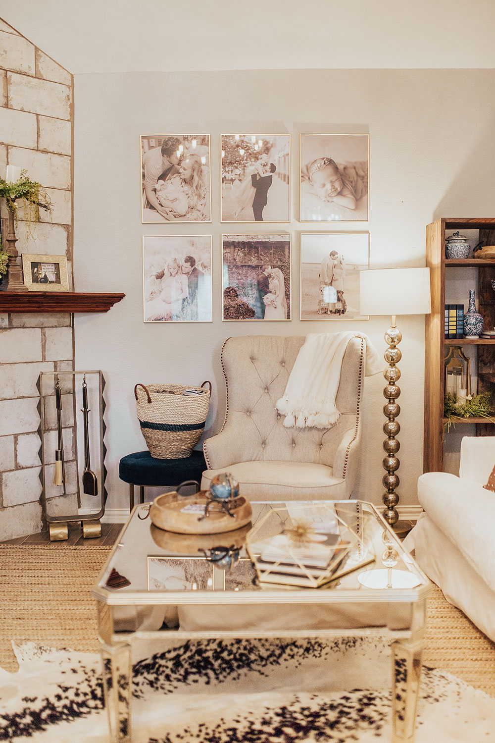 Our Modern Farmhouse Meets French Country Living Room Reveal Vandi Fair