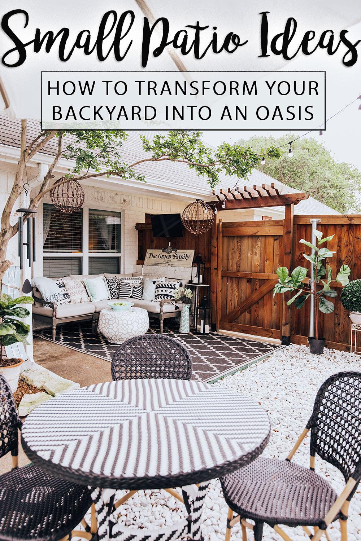 Our Back Porch Oasis + 26 Small Backyard Patio Ideas