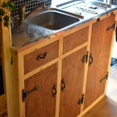 Kitchen Sink Frame Corner Top Cabinet Making A In Van - Vandog Traveller