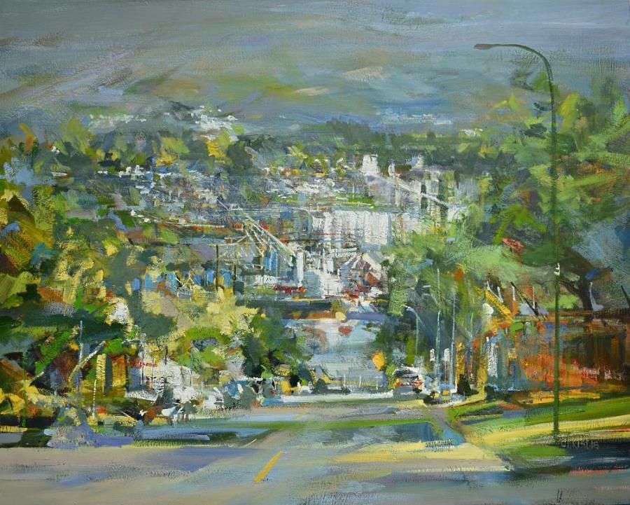 "Leanne M Christie Oil painting, A Thousand Stories. 48""x60 canvas size"