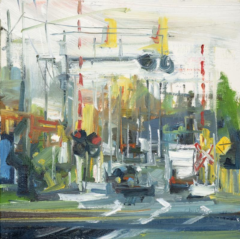 Landscape painting on canvas by Leanne M Christie New Westminster Van Dop Gallery Canadian Artist