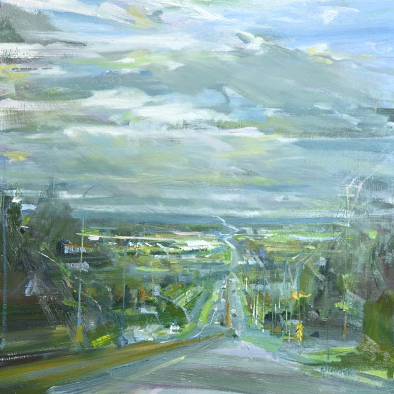 Landscape painting on canvas byLeanne M Christie New Westminister Van Dop Gallery Canadian Artist