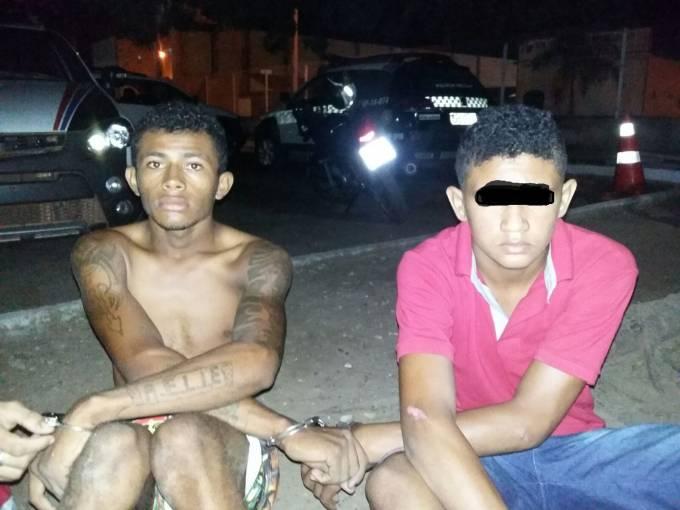 Os estupradores A.F.G.R de 17 anos Zaquel de Jesus Oliveira de 19 anos