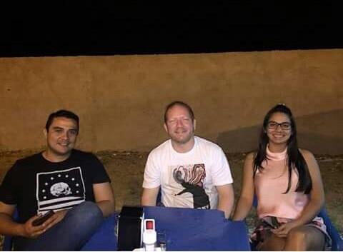 Fred Lobato o deputado Othelino Neto e Ana Paula, esposa do deputado e prima de Fred, encontro no dia que o acordo foi firmado.