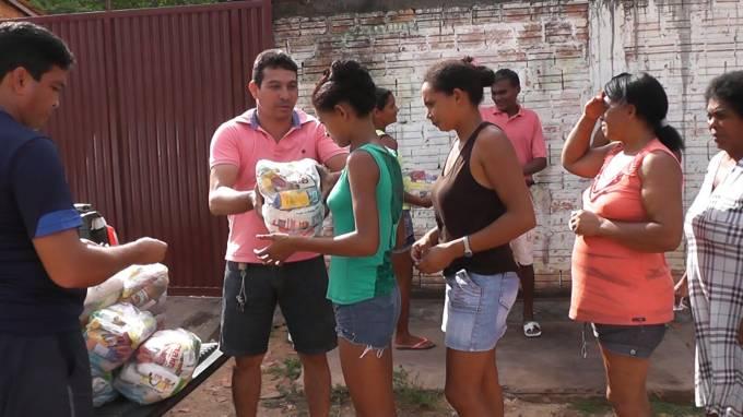 Vereador, Jaelson, fez a alegria de 200 famílias nos povoados de Paraíso e Roque.