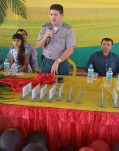 Major Osmar disse que o Proerd é investimento em segurança pública.